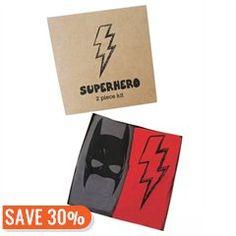 Superhero Onesies Gift Set