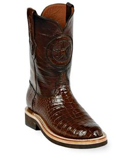 American Alligator Roper Boots Style 138 Custom-Made by Black Jack Boots