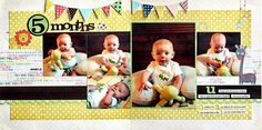 Monthly baby pages