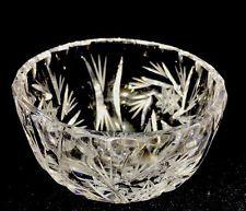 Vintage Pinwheel Crystal Small Sugar Bowl
