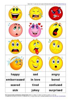 feelings and emotions Emotions Preschool, Teaching Emotions, Understanding Emotions, Emotions Activities, Feelings Games, Feelings Chart, Feelings And Emotions, Kids English, Learn English