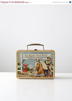 FREE SHIP 1950s Roy Rogers & Dale Evans Lunch Box by 86home, $276.25