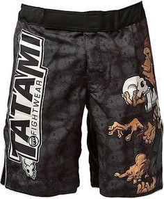 TatamiThinker Monkey Fight Shorts A truly unique design by the talented Chris Burns. The artwork depicts a monkey in the thinker pose atop a fallen competitor. Made with the usual high quality materia