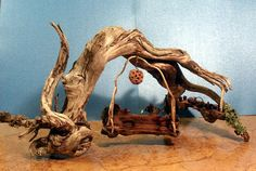 Fairy Garden Swing and Picnic Table  One of a by WoodlandWorkshop, $60.00