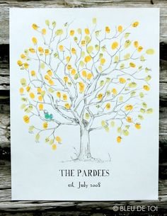 family tree guest book