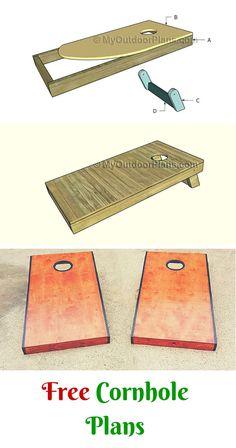 Folding Leg Box Frame Design Spec Sheet for Cornhole Boards. | Cornhole | Pinterest | Design ...