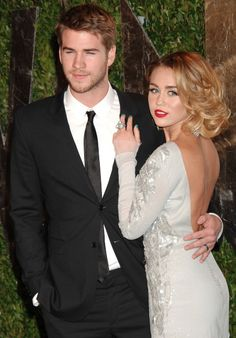 Liam Hemsworth and Miley Cyrus...I'm not sure how I feel about her yet, but she looks AMAZING