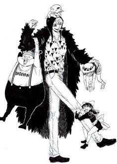 One Piece, Corazon, Law, Baby 5, Dellinger, Buffalo