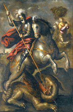 Image result for tintoretto saint george and dragon St James The Greater, Gas Mask Girl, Saint George And The Dragon, Beautiful Nature Wallpaper, Patron Saints, Sacred Art, Old Master, Horse Art, Monster