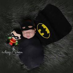 Baby Boy Photography, Newborn Photography Props, Newborn Photo Props, Newborn Session, Baby Boy Pictures, Newborn Pictures, Batman Photoshoot, Baby Boy Batman, New Born Boy