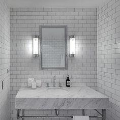 Bathroom with Subway Tiles, Modern, bathroom, Tania Handelsmann
