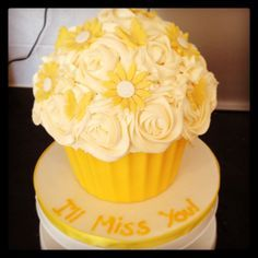giant cupcake with yellow flowers and butterflies - Google Search