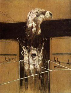 Tableaux sur toile, reproduction de Francis Bacon, Fragment d'une Crucifixion