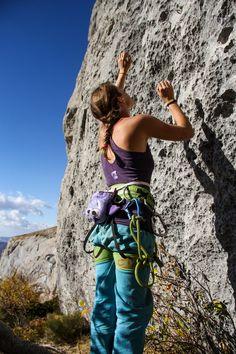 Violet Bat Chalk Bag by Crafty Climbing