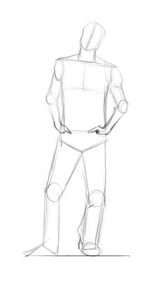 How to draw a body: male