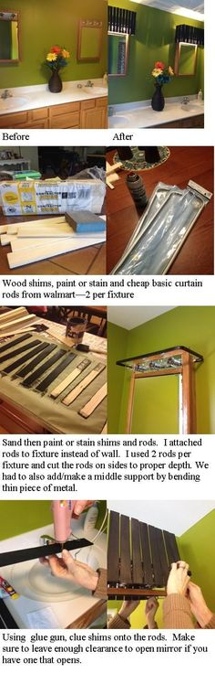 A Great Easy And Cheap Way To Cover Up Those 90 S Hollywood Light Fixtures For