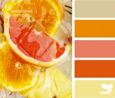Spring design inspiration.\ in shades of orange and pinks