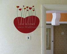 Love Blooms Flower Wall Decals– WallDecalMall.com Wonderful Flowers, Flower Wall Stickers, Bloom, Nursery, Shapes, Home Decor, Decoration Home, Room Decor, Baby Room