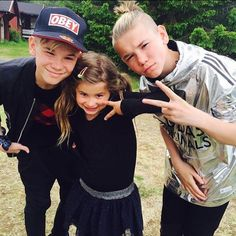 Mac, Tinus, and their little sister, Emma
