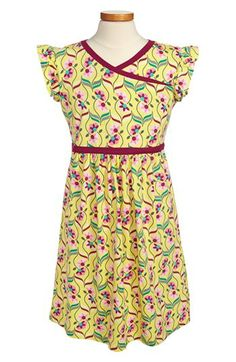 Tea Collection 'Souq' Floral Faux Wrap Dress (Little Girls & Big Girls) available at #Nordstrom