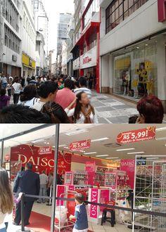 Sabadão de Carnaval foi dia de aproveitar para conhecer a Daiso, famosa rede japonesa com um conceito similar ao segmento de lojas de R$ 1,99. Tem mais de 3.000 lojas no mundo, sendo 2.500 no Japão. Finalmente ela chegou ao Brasil e sua primeira loja fica no centro da cidade de São Paulo (Rua Direita, 247) entre o metrô Sé e São Bento. (Para quem achava que ela iria ser...