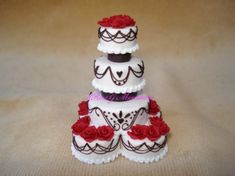 Miniature Wedding Cake by A. Rose Gallagher