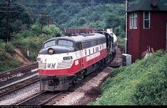 RailPictures.Net Photo: WM 235 Western Maryland Railway EMD F7(A) at Ridgeley, West Virginia by Extra 127 South