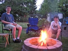 Stone Soup for Five: DIY simple brick firepit, in about an hour!