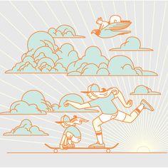 Skate Together in Illustration