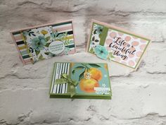 Whole Lot of Lovely Small A7 Card Trio by Amanda Bates at The Craft Spa. Independent Stampin' Up! UK Demonstrator, Blogger & Online Shop