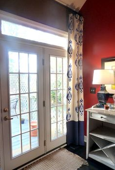 stenciled drop cloth curtains (our fifth house blog)