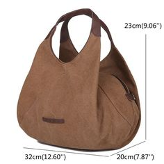 High-quality Women Canvas Portable Tote Handbags Casual Shoulder Bags Capacity Crossbody Bags - NewChic Mobile