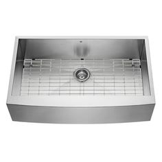 36-in x 22.25-in Single-Basin Stainless Steel Apron Front/Farmhouse 1-Hole Commercial/Residential Kitchen Sink