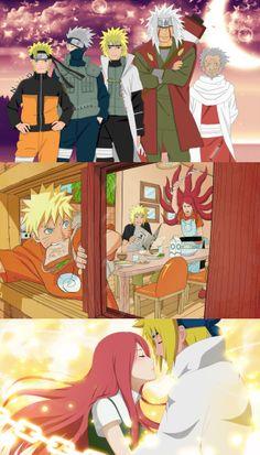 Anime, art, naruto, naruto, yondaime hokage, the fourth hokage, minato namikadze, kushina