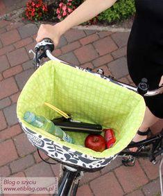 Tutorial jak uszyć wkład - torbę do koszyka na rower - jak uszyć - blog o szyciu- eti blog