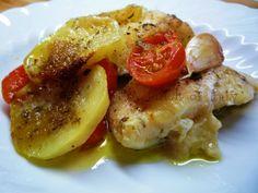 Baccalà con patate e pomodorini
