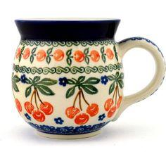 Polish Pottery 16 oz Bubble Mug | Boleslawiec Stoneware | Polmedia H0606B