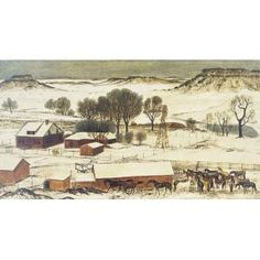 West Texas Snow, Perry Nichols, 1941, Dallas Museum of Art