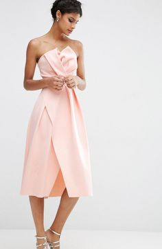 ASOS embellished trim bandeau dress: http://www.stylemepretty.com/living/2016/07/15/match-your-cocktail-dress-and-drink/