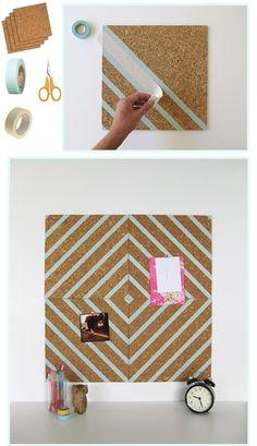 washi tape corkboard