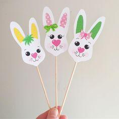 Påskpyssel. Blompinnar till vårplanteringarna. Easter craft from kuckilura_creative_design