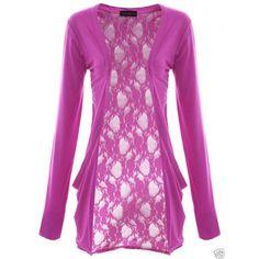Fashion Victim, Ladies Long Sleeve Lace Back Boyfriend Cardigan, Shrug ($27) via Polyvore