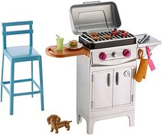 """Barbie BBQ Grill Furniture/Accessory Set 