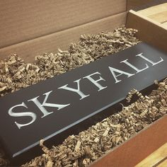 Who doesn't love a little bit of 007? We made this for a lovely customer and his very own Skyfall. We think it'll look awesome on his annex man-den! :)