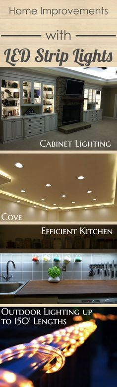 LED Strip Lighting Guide: Walk through the different types of linear LED lights and find which strips work best for your home!