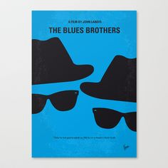 No012 My Blues brothers minimal movie poster Stretched Canvas by Chungkong