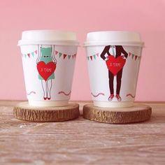 sakurako22 • annaharo: Valentine's Day coffee cups