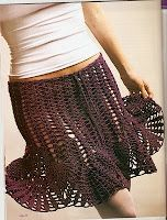 Openwork Skirt free crochet graph pattern