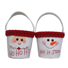 These Christmas Bags are made of felt fabric. These holiday felt bags are perfect for handing out Christmas party favors, work gifts, and holiday classroom treats. Make memories this Christmas with fun holiday favors, decorations, and gifts.