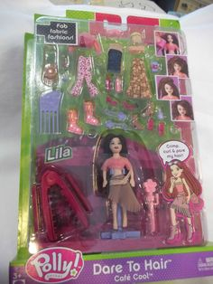 Polly+Pocket+Dare+to+Hair+-+Cafe+Cool+-+Lila+-+Unopened!+#DollswithClothingAccessories